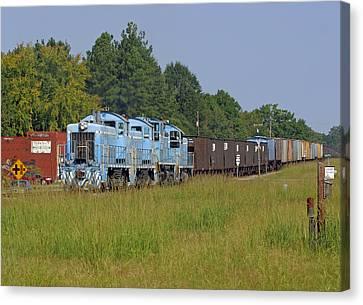 Small Town Train 2 Canvas Print