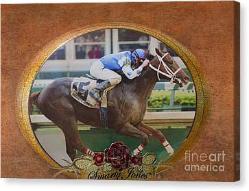 Smarty Jones Canvas Print by Betty LaRue