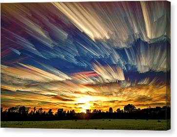 Stacked Canvas Print - Smeared Sky Sunset by Matt Molloy