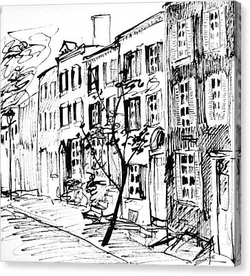 Philly Canvas Print - Smedley Street by Deborah Dendler