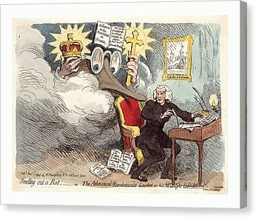 Smelling Out A Rat Or The Atheistical-revolutionist Canvas Print by French School