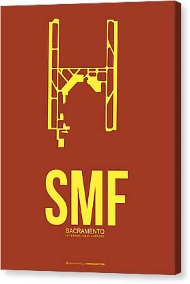 Sacramento Canvas Print - Smf Sacramento Airport Poster 1 by Naxart Studio