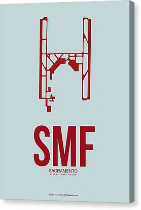 Sacramento Canvas Print - Smf Sacramento Airport Poster 2 by Naxart Studio