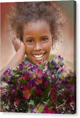 Smile 2 Canvas Print by Kume Bryant