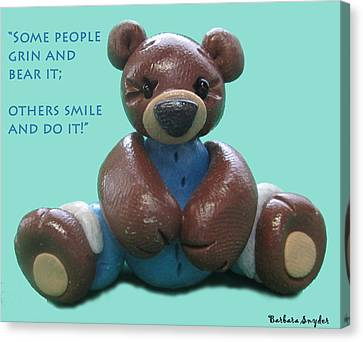 Smile And Do It Canvas Print by Barbara Snyder