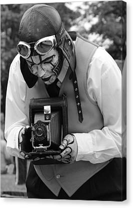 Smile For The Camera Canvas Print by Kym Backland