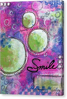 Smile Canvas Print by Melissa Sherbon