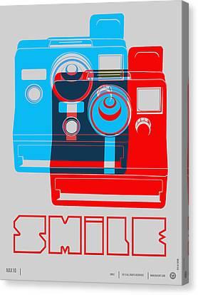 Smile Polaroid Poster Canvas Print