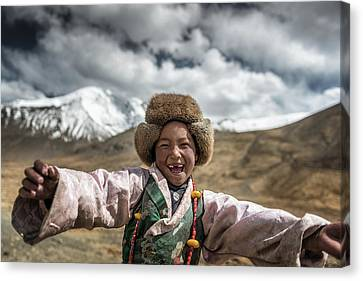 Smile {tibet} Canvas Print