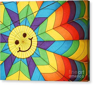Smiley Face Balloon Canvas Print