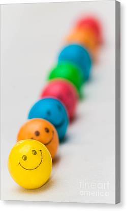 Smiley Face Gum Balls Canvas Print by Amy Cicconi