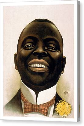 Smiling African American Circa 1900 Canvas Print by Aged Pixel