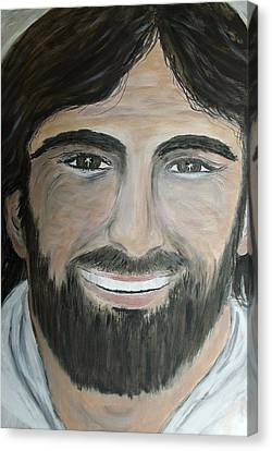 Smiling Jesus Canvas Print - Smiling Jesus by Tammy Rogers