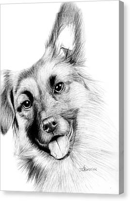 Smiling Puppy Canvas Print by Kayleigh Semeniuk