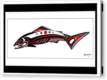 Smiling Salmon Canvas Print