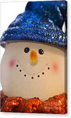 Smiling Snowman Canvas Print by Birgit Tyrrell