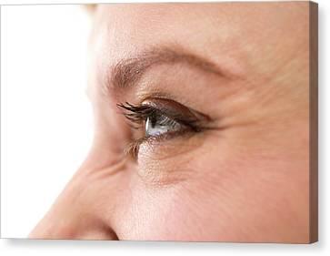 Smiling Woman's Eye Canvas Print