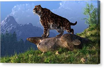 Smilodon Fatalis Canvas Print by Daniel Eskridge