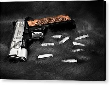 Danger Canvas Print - Smith And Wesson 1911sc Still Life by Tom Mc Nemar