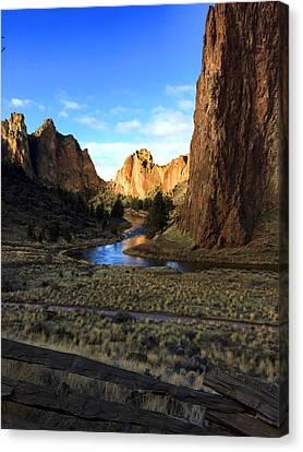 Sunriver Canvas Print - Smith Rock December Morning 3 by Nancy Merkle