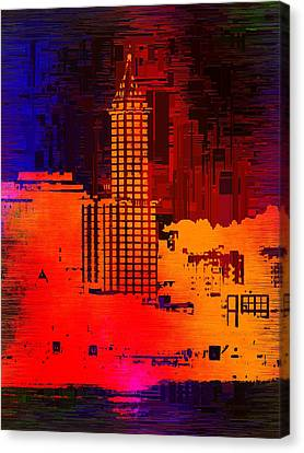 Smith  Tower Cubed Canvas Print