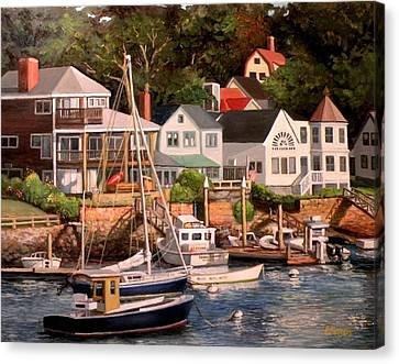 Smiths Cove Gloucester Canvas Print by Eileen Patten Oliver