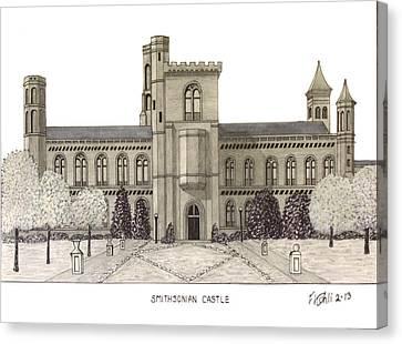 Smithsonian Castle Canvas Print by Frederic Kohli