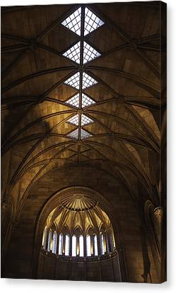 Smithsonian Castle Vaulted Ceiling Canvas Print by Lynn Palmer