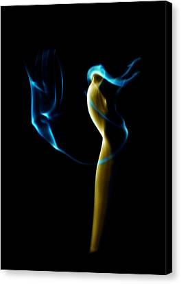 Smoke 2 - Solitude Standing Canvas Print by Mark Fuller