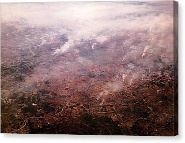 Smoke And Fires Canvas Print by Paul Williams