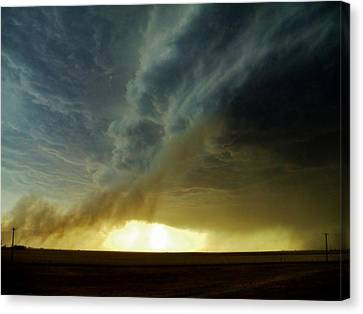 Smoke And The Supercell Canvas Print by Ed Sweeney