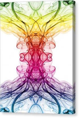 Smoke Art 9 Canvas Print by Steve Purnell