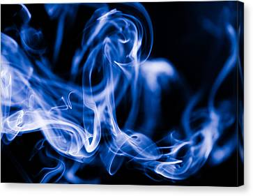 Smoke Close Up Canvas Print