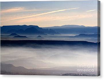 Smoke From A Forest Fire As Seen From Jerome Arizona Canvas Print