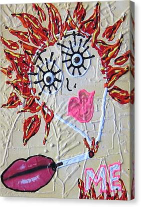 Canvas Print featuring the painting Smoke Me Now by Lisa Piper