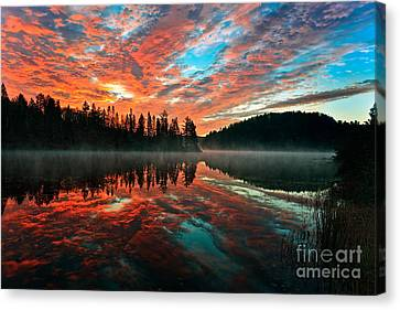 Smoke On The Water  Fire In The Sky Canvas Print