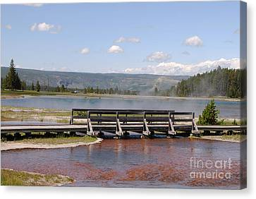 Canvas Print featuring the photograph Smoke On The Water by Mary Carol Story