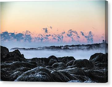 Smoke On The Water Canvas Print by Robert Clifford