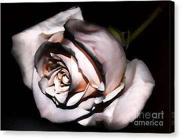 Smoked Rose Canvas Print by Mariola Bitner