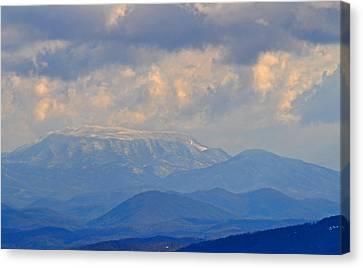 Smokey Blue Morning Canvas Print by Peter  McIntosh