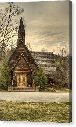Smokey Mountains Canvas Print - Smokey Mountain Love Chapel 2 by Douglas Barnett