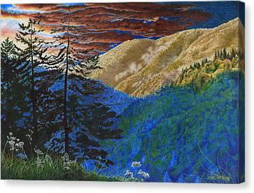 Smokies Sunset Canvas Print by Richard Devine