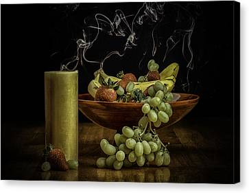 Smokin' Bowl Canvas Print by PhotoWorks By Don Hoekwater