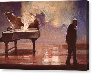 Smokin Piano Canvas Print by Emily Gibson