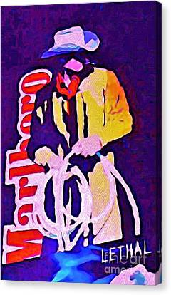 Smoking Can Be Lethal Canvas Print by John Malone