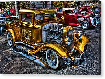 Smoking Ford Canvas Print by Tommy Anderson