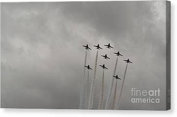 Smoking Planes Canvas Print by Tracey Williams