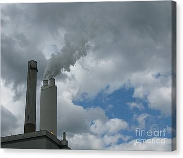Smoking Stack Canvas Print by Ann Horn