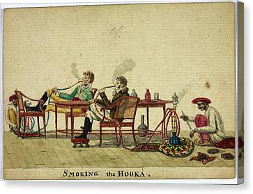 Smoking The Hooka Canvas Print