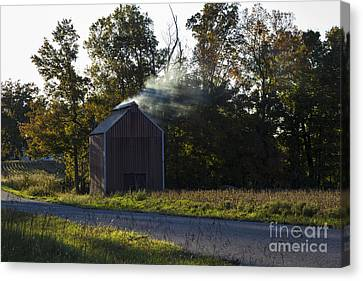 Canvas Print featuring the photograph Smoking Tobacco by Amber Kresge